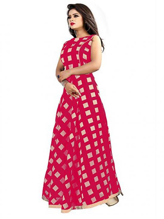 Pink Color American Crepe Gown
