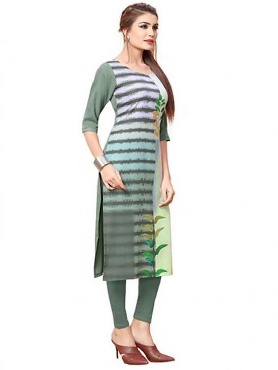 Light Green Color Crepe Kurti