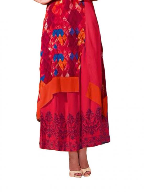 Red and Blue Designer Kurti