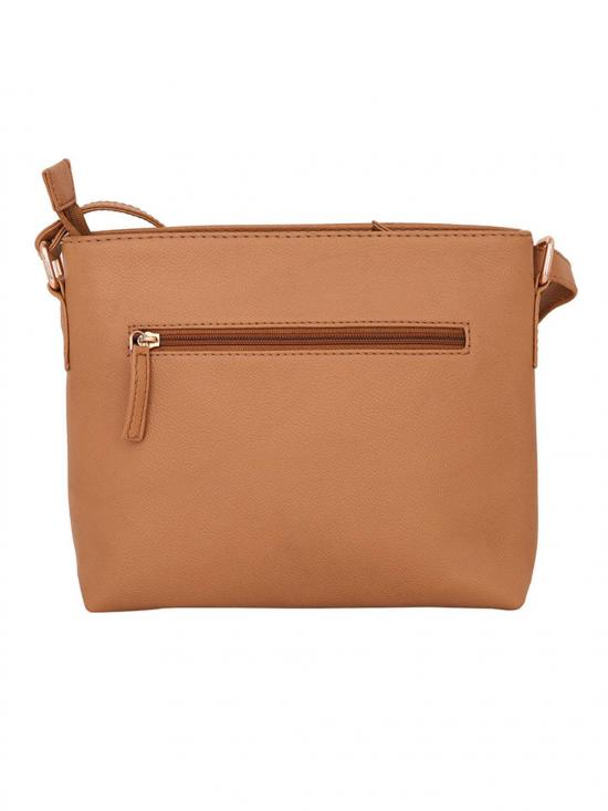 Lapis O Lupo Front Zip Women Synthetic Sling Bag - Beige