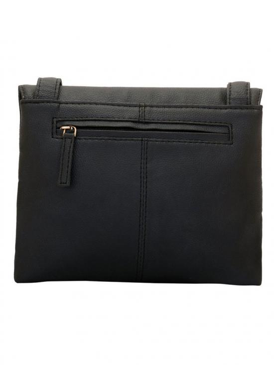 Lapis O Lupo Eboney Women Synthetic Sling Bag - Black