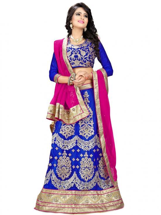 Royal Blue Designer Fancy  Lehenga Choli