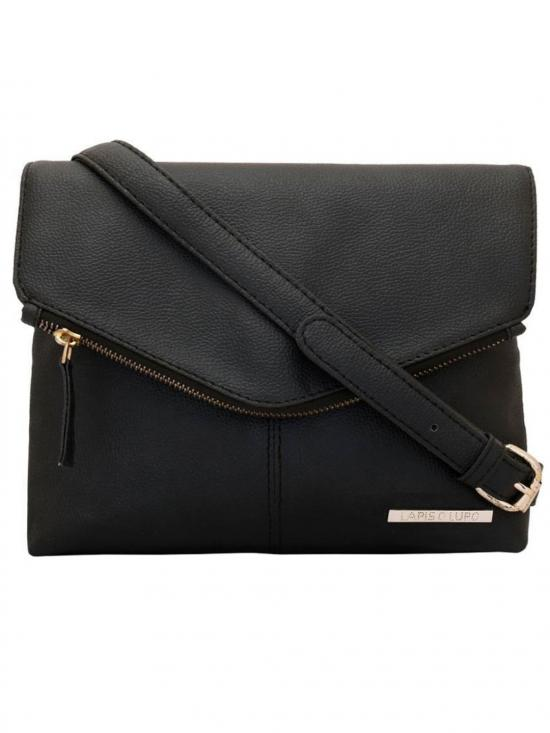 Lapis O Lupo Eboney Women Synthetic Sling Bag Image