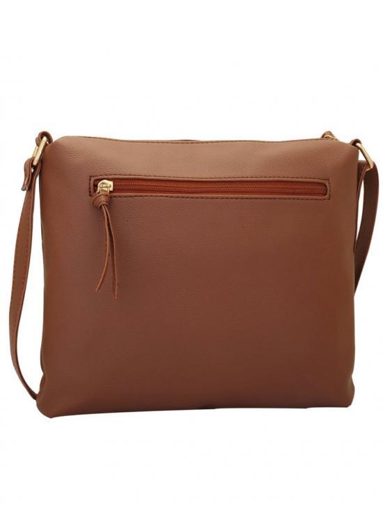 Lapis O Lupo Windsor Women Synthetic Sling Bag - Tan