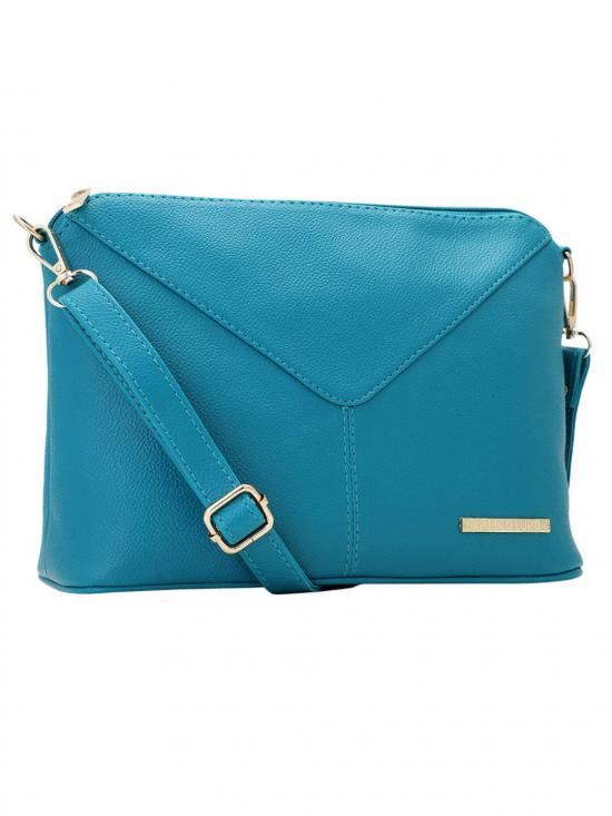 Lapis O Lupo Women Synthetic Sling Bag - Turquoise