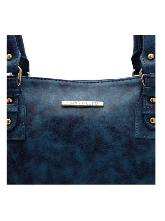 Lapis O Lupo Women Synthetic Handbag - Blue