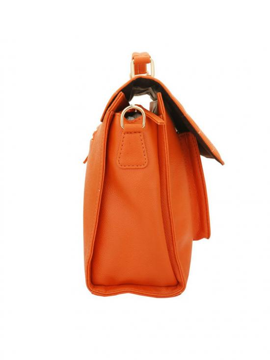 Melon Women Synthetic Sling Bag - Orange