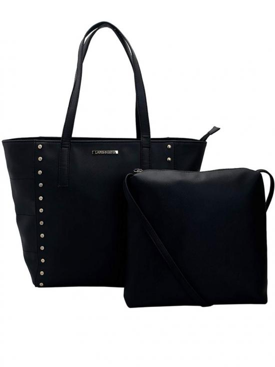 Lapis O Lupo Synthetic Blanc WomenTote  Black Image