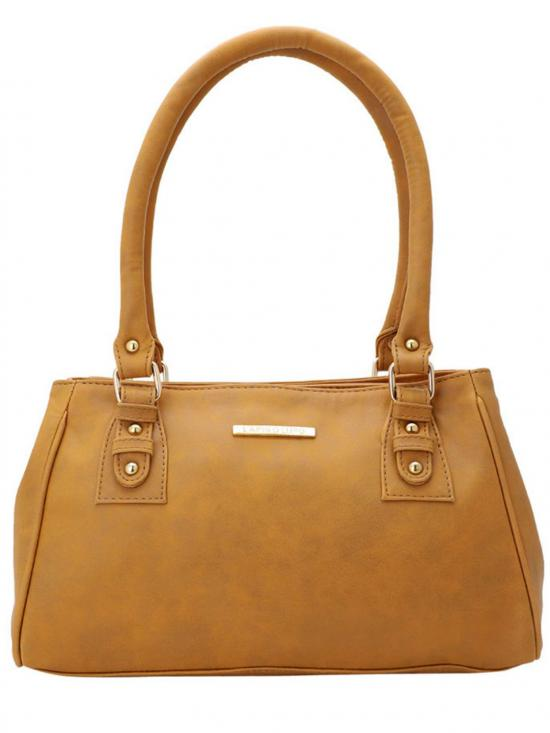 Women Synthetic Handbag - Mustard