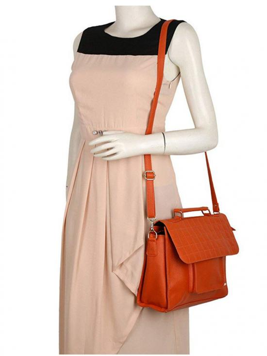 Lapis O Lupo Melon Women Synthetic Sling Bag - Orange