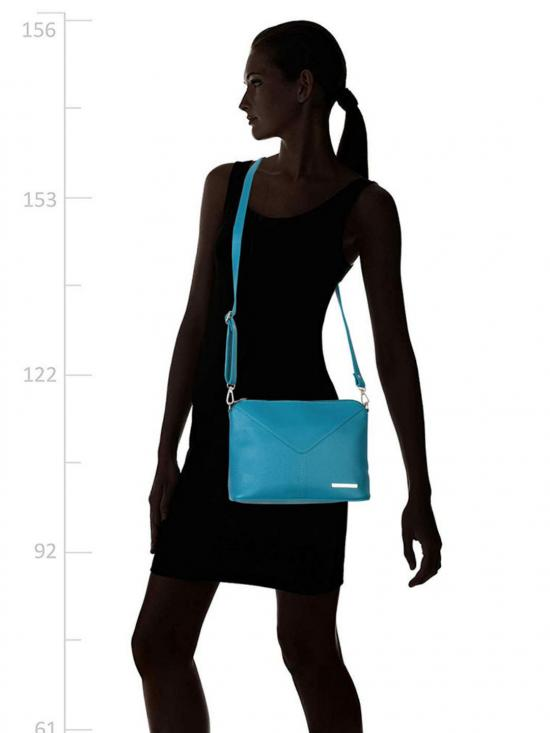 Lapis O Lupo Women Synthetic Sling Bag - Blue
