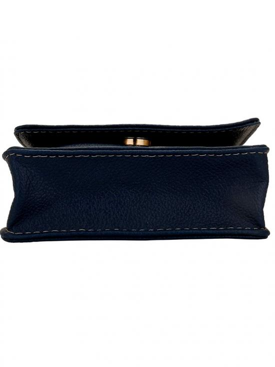 Lapis O Lupo Women Mobile Synthetic Sling Bag - Blue