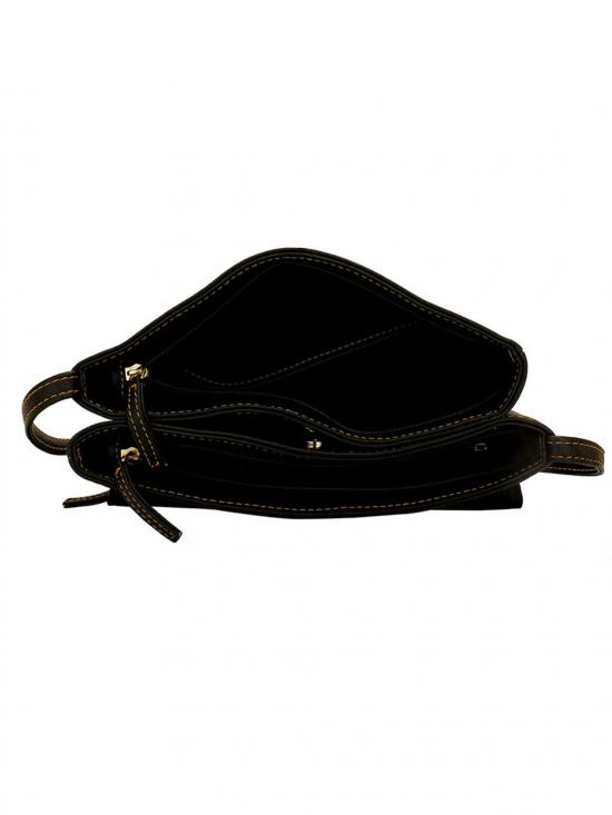 Lapis O Lupo Blanc Women Synthetic Sling Bag - Black