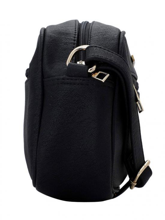 Lapis O Lupo Women Synthetic Sling Bag - Black