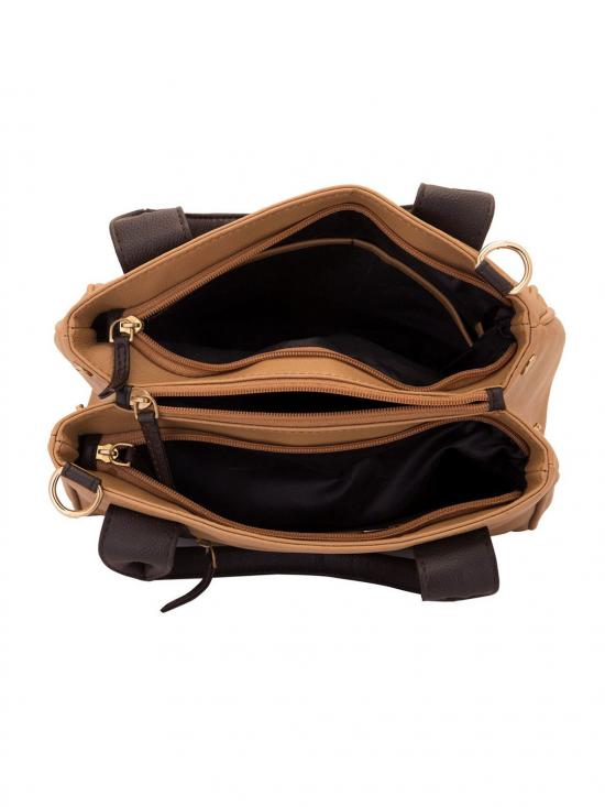 Lapis O Lupo Kasha Women Synthetic Handbag - Beige