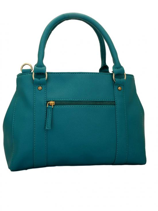 Dutch Women Synthetic Handbag - Turquoise