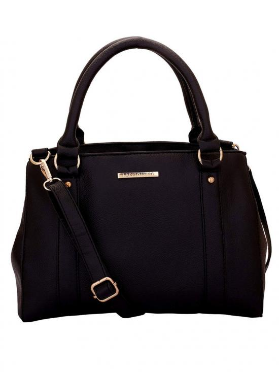 Blanche Women Synthetic Handbag - Black