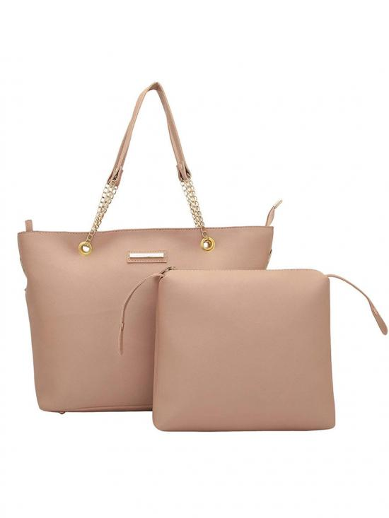 Bag In Bag  Women Tote - Light Beige