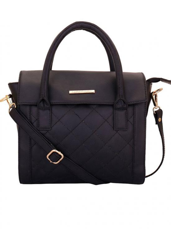 Onyx Women Synthetic Handbag - Black