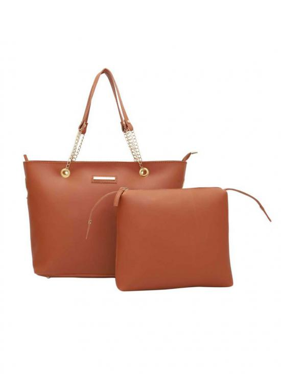 Bag In Bag  Women Tote - Tan