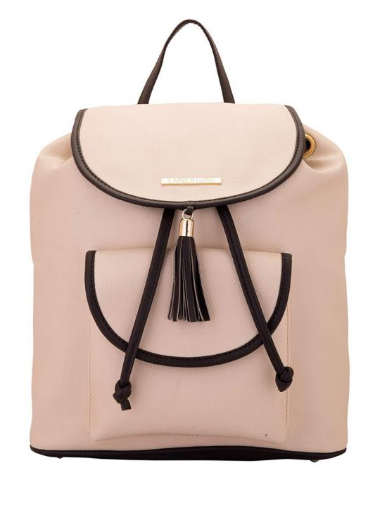 Synthetic  Terra Cotta Women Backpack - Off White