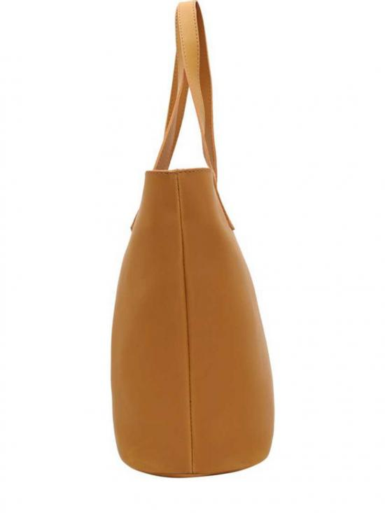 Lapis O Lupo  Synthetic  Women Tote - Mustard