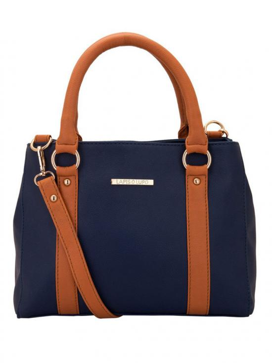 Feger Trendy Women Synthetic Handbag - Blue