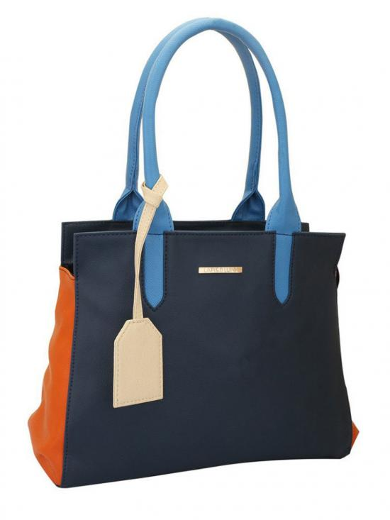 Alkali Women Synthetic Handbag - Blue