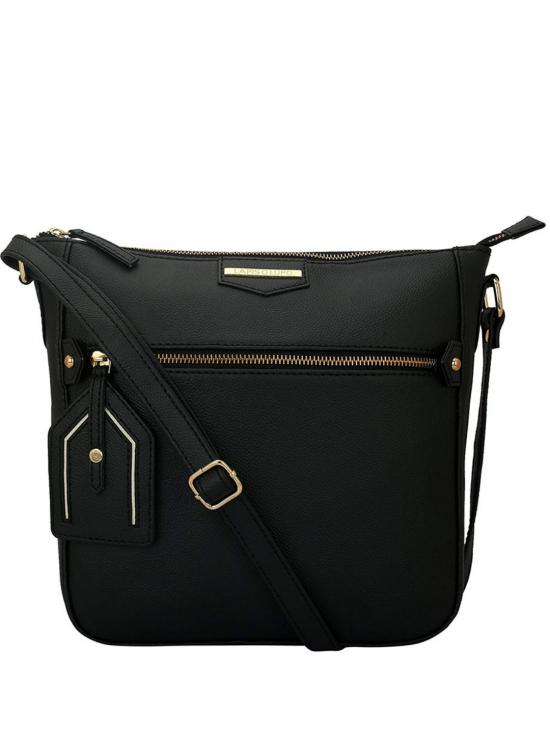 Onyx Women Synthetic Sling Bag - Black