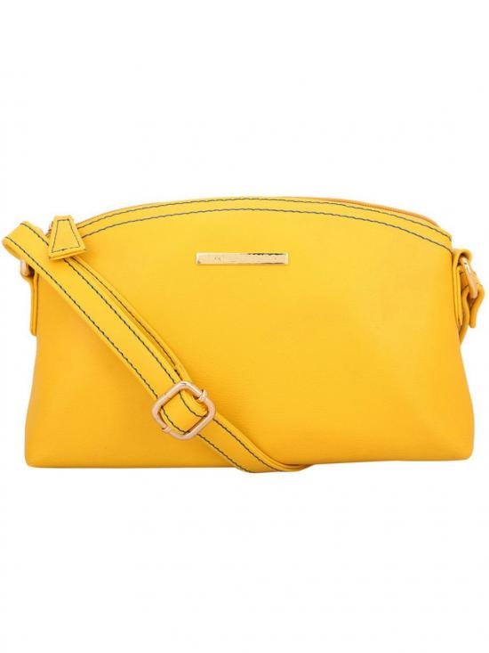 Sallow Women Synthetic Sling Bag - Yellow