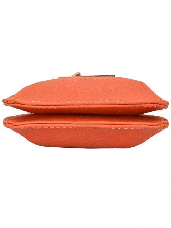 Mush Women Mobile Synthetic Sling Bag - Orange