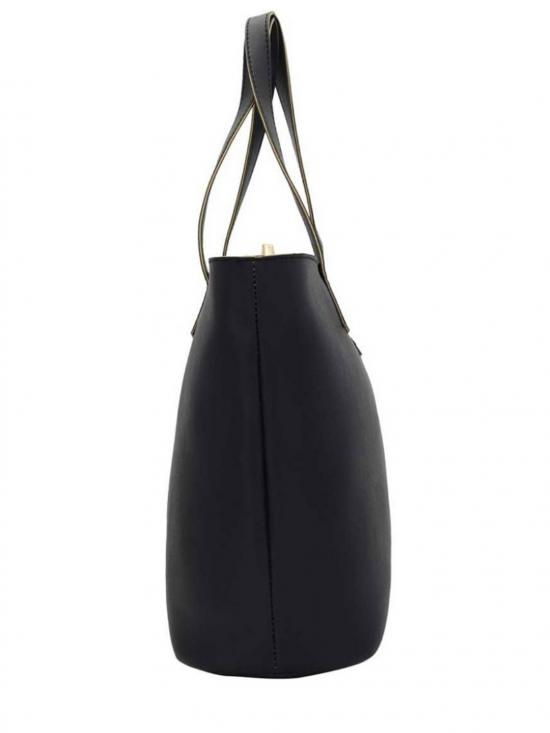 Cutting Synthetic Women Tote -  Black