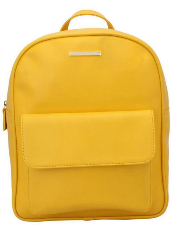 Lapis O Lupo Synthetic Helvus Women Backpack - Yellow