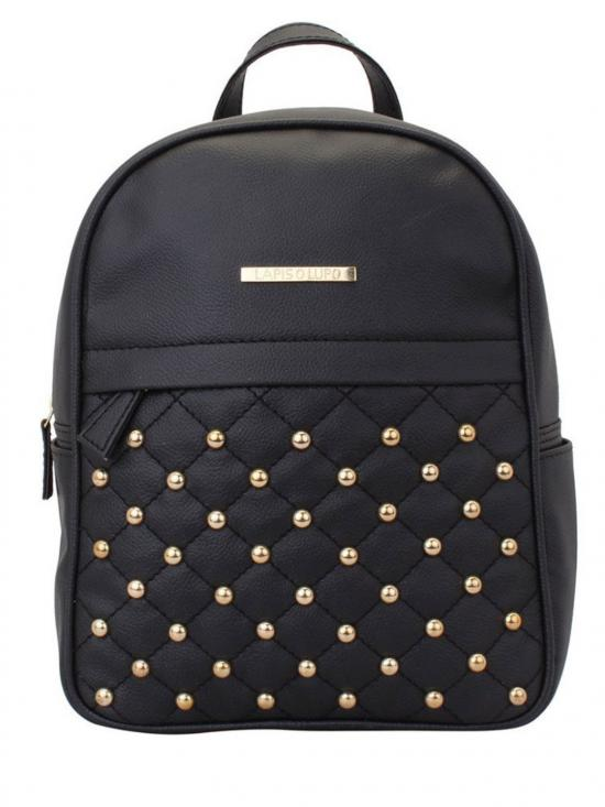 Synthetic Dong Repeat Women Backpack - Black