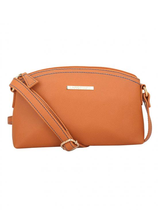 Lapis O Lupo Drab Women Synthetic Sling Bag - Tan