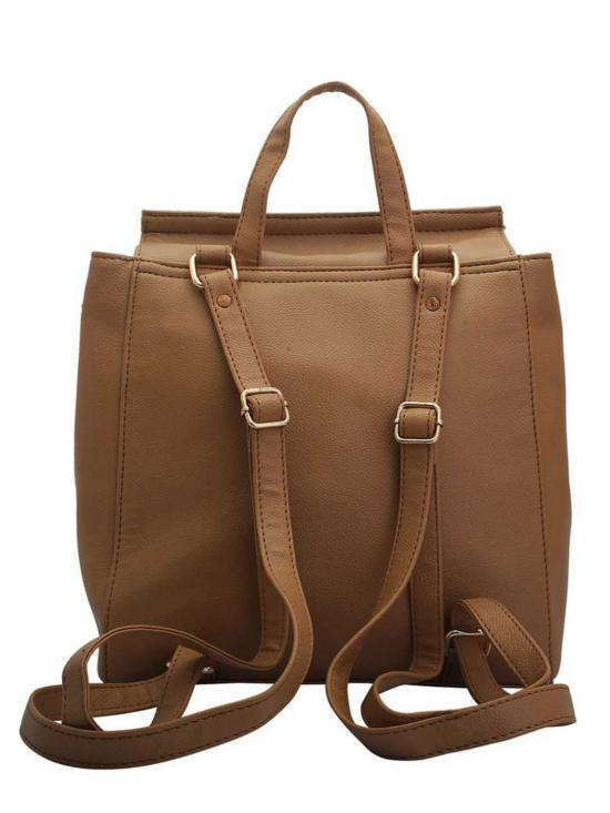 Lapis O Lupo Synthetic Taupe Women Backpack - Beige