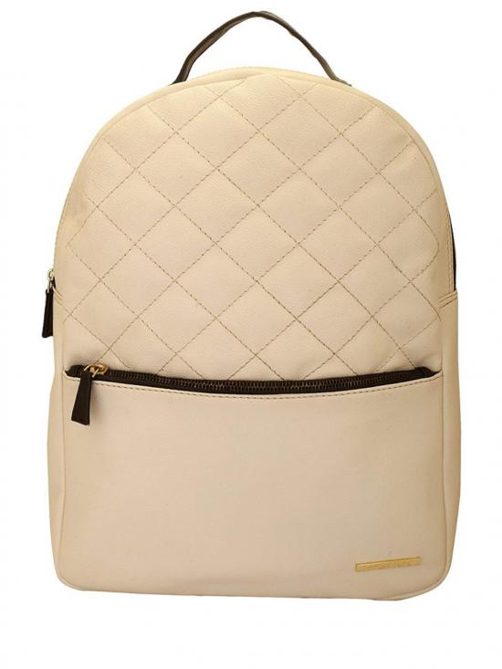 Blanc Women�s Quilting Laptop Backpack - Off White