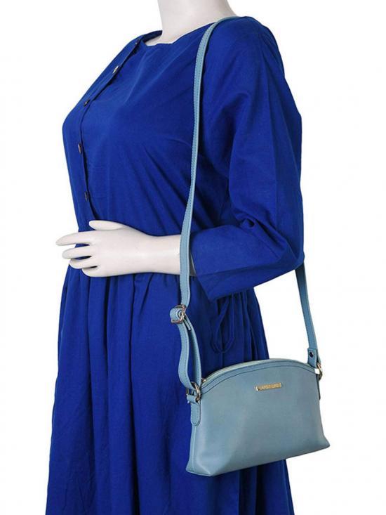 Lapis O Lupo Azzurro Women Synthetic Sling Bag - Turquoise