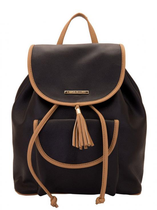 Synthetic Smoke Women Backpack - Black