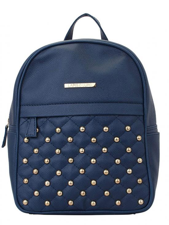 Synthetic Dong Repeat Women Backpack - Blue