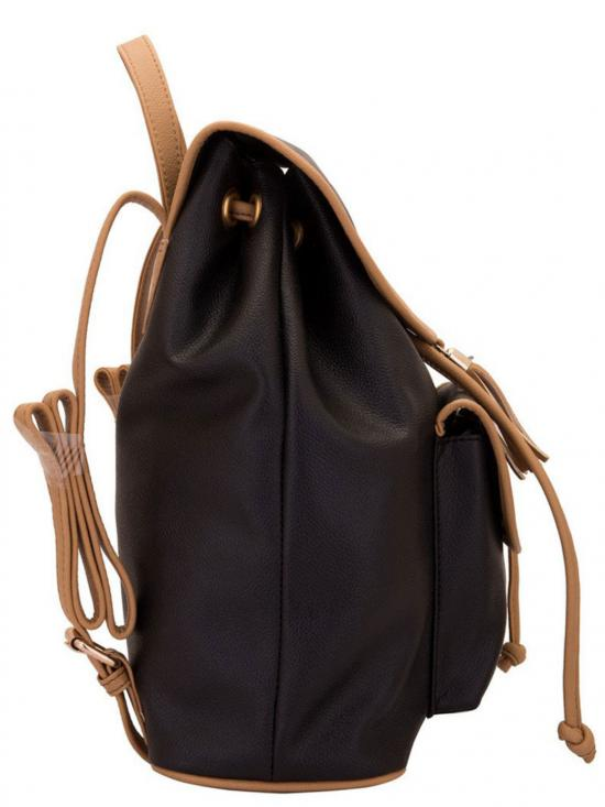 Lapis O Lupo Synthetic Smoke Women Backpack - Black