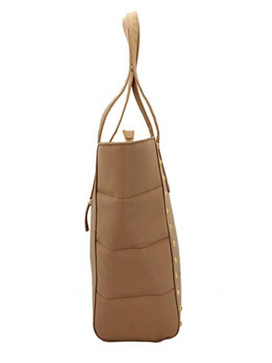 Lapis O Lupo Synthetic Taupe Women�s Tote - Beige