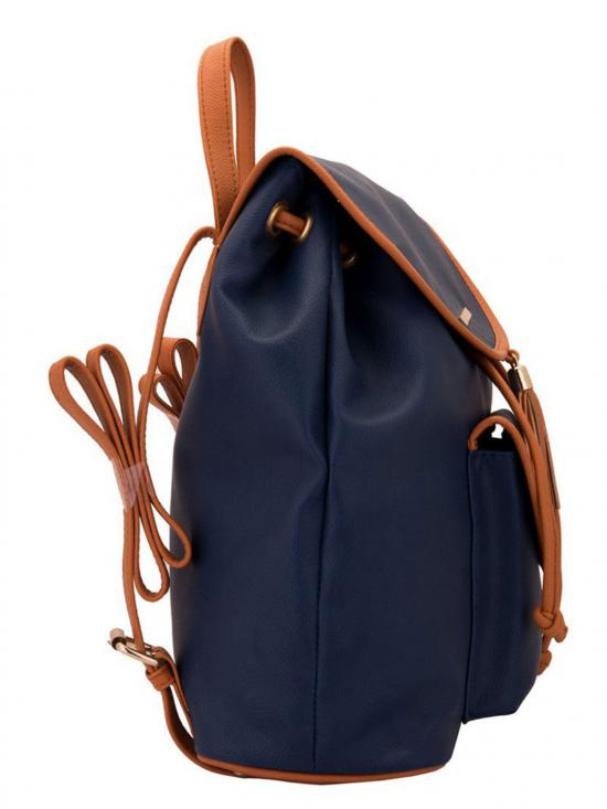 Lapis O Lupo Synthetic Lilac Women Backpack - Blue