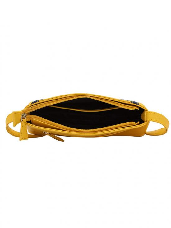 Splendid Women Synthetic Sling Bag - Yellow