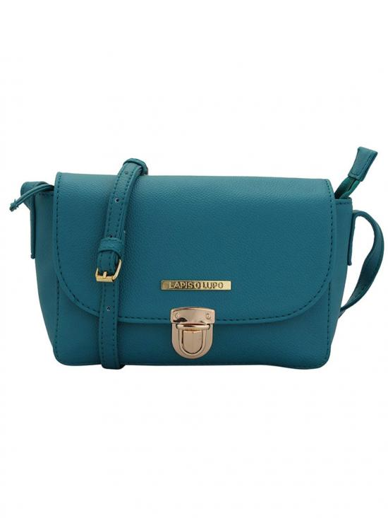Alice Women Synthetic Sling Bag - Turquoise