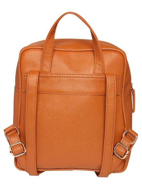 Synthetic Bust Steam Women Backpack - Tan