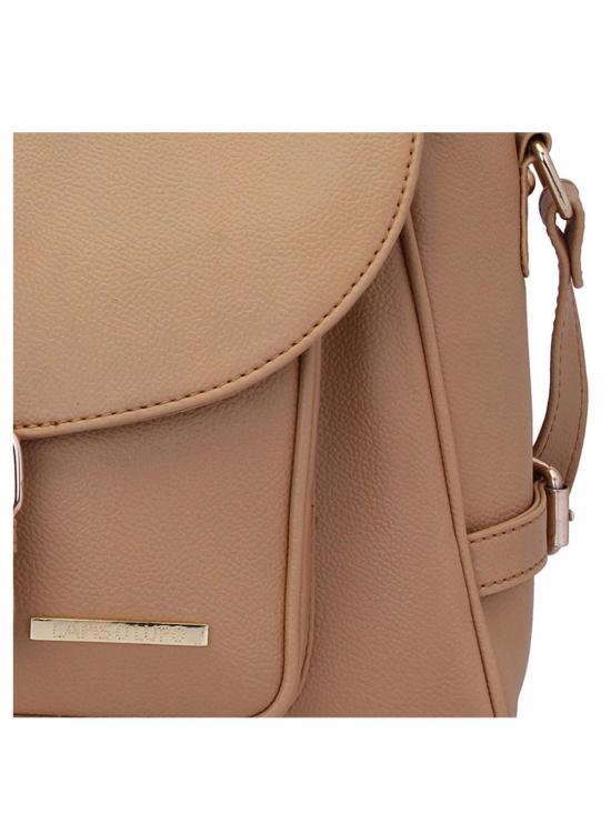 Fawn Women Synthetic Handbag - Beige