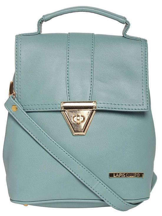 Synthetic Candy Women Backpack - Turquoise Blue