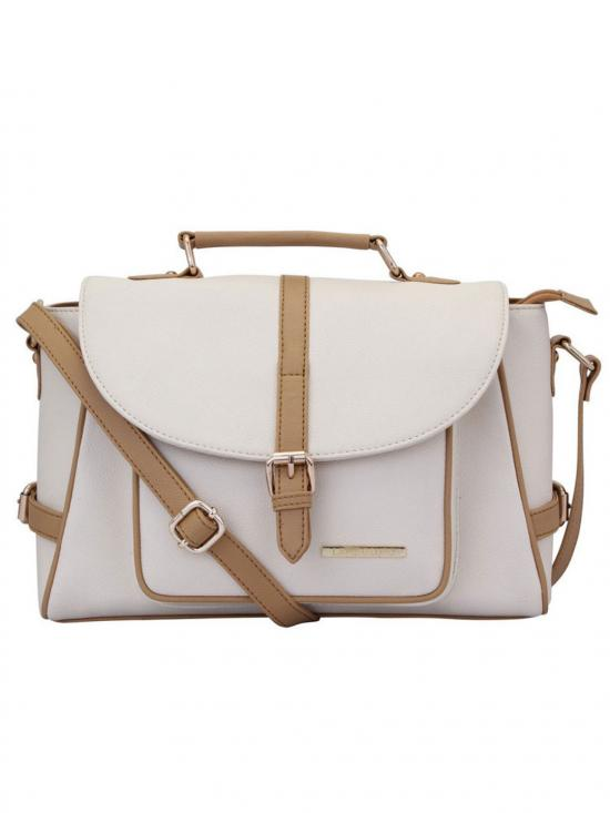 Blanche Women Synthetic Handbag - Off White