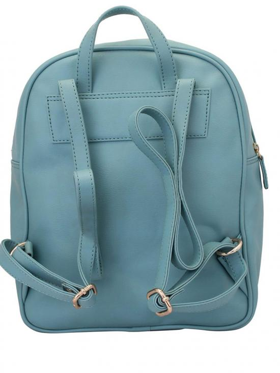 Synthetic Periwinkle Women Backpack - Light Tourquise